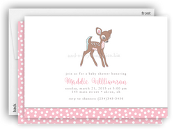 Deer Party Invitation • Baby Shower Birthday • Any Colors