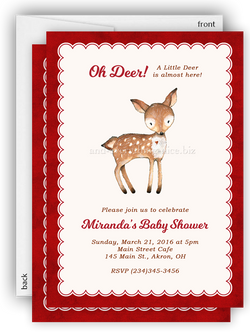 Deer Party Invitation • Baby Shower Birthday • Any Colors Baby Shower Invitations - Everything Nice