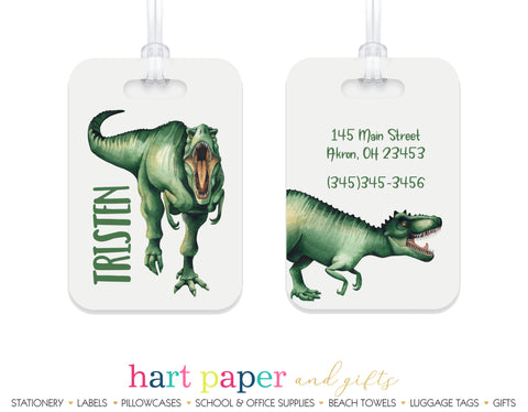 Dinosaurs T Rex T-Rex Luggage Bag Tag School & Office Supplies - Everything Nice