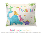 Dinosaur Dino Personalized Pillowcase Pillowcases - Everything Nice