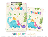 Girly Dinosaur Personalized Clipboard School & Office Supplies - Everything Nice