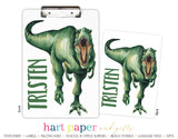 T-Rex Dinosaur Personalized Clipboard School & Office Supplies - Everything Nice