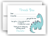 Girly Dinosaur Thank You Cards Note Card Stationery •  Fill In the Blank Stationery Thank You Cards - Everything Nice