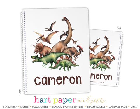 Dinosaur Personalized Notebook or Sketchbook School & Office Supplies - Everything Nice