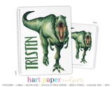 T-Rex Dinosaur Personalized Notebook or Sketchbook School & Office Supplies - Everything Nice