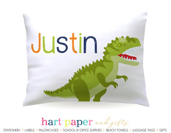 Tyrannosaurus Rex Dinosaur Dino Personalized Pillowcase Pillowcases - Everything Nice