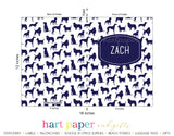 Navy Blue Dogs Puppy Personalized 2-Pocket Folder School & Office Supplies - Everything Nice