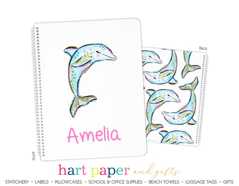 Dolphin Personalized Notebook or Sketchbook School & Office Supplies - Everything Nice
