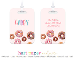Donuts Doughnut Luggage Bag Tag School & Office Supplies - Everything Nice