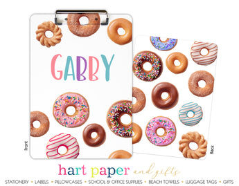 Donuts Personalized Clipboard School & Office Supplies - Everything Nice