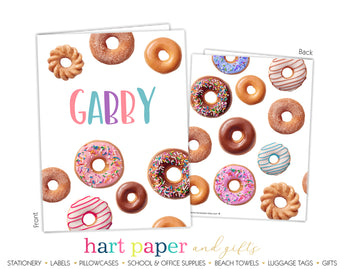 Donuts Personalized 2-Pocket Folder School & Office Supplies - Everything Nice