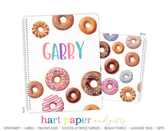 Donuts Personalized Notebook or Sketchbook
