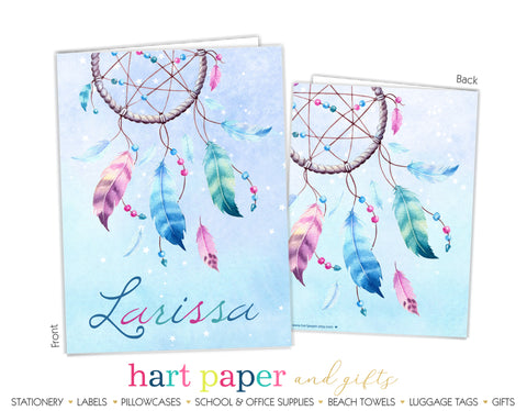 Dream Catcher Personalized 2-Pocket Folder School & Office Supplies - Everything Nice