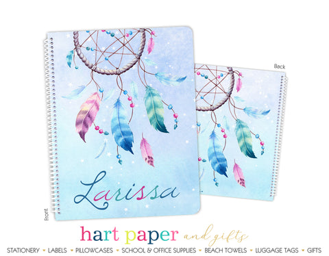 Dreamcatcher Personalized Notebook or Sketchbook School & Office Supplies - Everything Nice