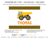 Dump Truck Personalized Pillowcase Pillowcases - Everything Nice