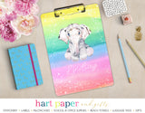 Rainbow Elephant Personalized Clipboard School & Office Supplies - Everything Nice
