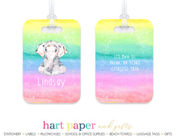 Elephant Rainbow Luggage Bag Tag School & Office Supplies - Everything Nice