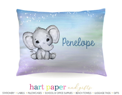 Elephant Personalized Pillowcase Pillowcases - Everything Nice