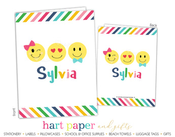 Emoji Happy Face Personalized 2-Pocket Folder School & Office Supplies - Everything Nice