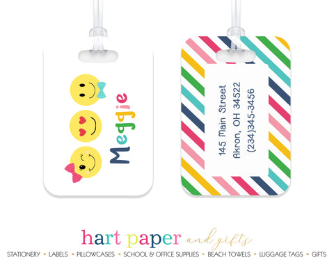 Emoji Happy Face Luggage Bag Tag School & Office Supplies - Everything Nice