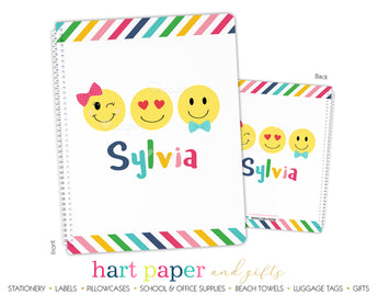 Emoji Happy Face Personalized Notebook or Sketchbook School & Office Supplies - Everything Nice