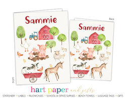 Farm Animals Personalized 2-Pocket Folder School & Office Supplies - Everything Nice