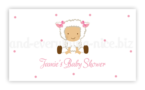 Baby Lamb Sheep • Favor Tags or Registry Cards Favor Tags & Registry Cards - Everything Nice