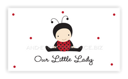 Ladybug Baby • Favor Tags or Registry Cards Favor Tags & Registry Cards - Everything Nice