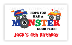 Monster Truck • Favor Tags or Registry Cards Favor Tags & Registry Cards - Everything Nice