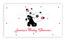 Panda Bear • Favor Tags or Registry Cards