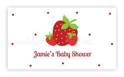 Strawberry • Favor Tags or Registry Cards