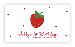 Strawberry II • Favor Tags or Registry Cards