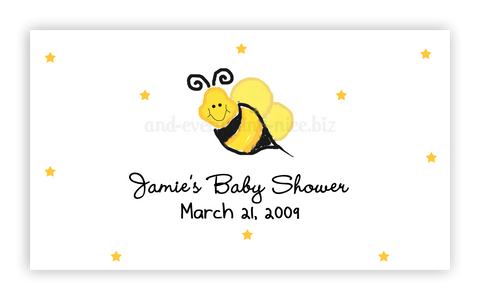 Bumble Bee III • Favor Tags or Registry Cards Favor Tags & Registry Cards - Everything Nice