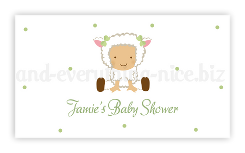 Baby Lamb Sheep • Favor Tags or Registry Cards