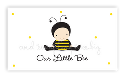 Baby Bee • Favor Tags or Registry Cards Favor Tags & Registry Cards - Everything Nice
