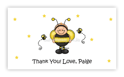 Baby Bumble Bee • Favor Tags or Registry Cards