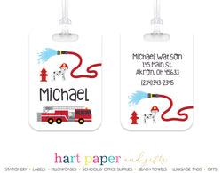 Firetruck Luggage Bag Tag School & Office Supplies - Everything Nice