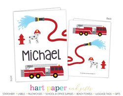 Firetruck Personalized 2-Pocket Folder School & Office Supplies - Everything Nice