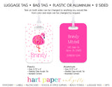 Pink Flamingo Luggage Bag Tag School & Office Supplies - Everything Nice