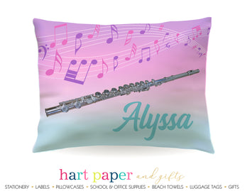 Flute Personalized Pillowcase Pillowcases - Everything Nice
