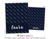 Navy Blue Diamonds Personalized 2-Pocket Folder School & Office Supplies - Everything Nice