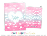 Sparkle Hearts Personalized 2-Pocket Folder School & Office Supplies - Everything Nice