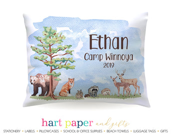 Animals Camping Personalized Pillowcase Pillowcases - Everything Nice