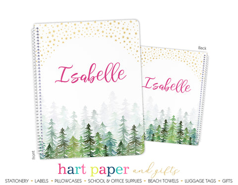 Trees Stars Personalized Notebook or Sketchbook School & Office Supplies - Everything Nice