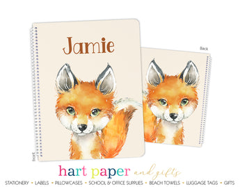 Fox Personalized Notebook or Sketchbook School & Office Supplies - Everything Nice