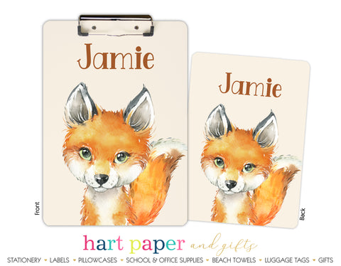 Fox Personalized Clipboard School & Office Supplies - Everything Nice