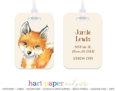 Fox Luggage Bag Tag School & Office Supplies - Everything Nice