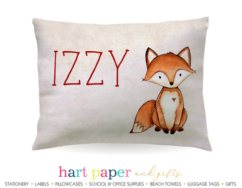 Fox Personalized Pillowcase Pillowcases - Everything Nice