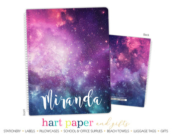 Galaxy Stars Space Personalized Notebook or Sketchbook School & Office Supplies - Everything Nice
