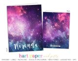 Galaxy Stars Sky Space Personalized 2-Pocket Folder School & Office Supplies - Everything Nice